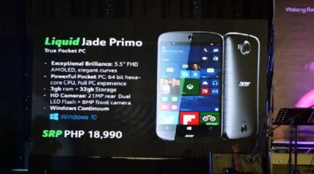 New Windows 10 flagship arrives: Acer's Liquid Jade Primo