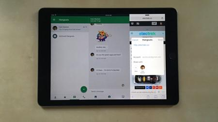 Hangouts for iOS updated with sharing extension, low-power mode functionality