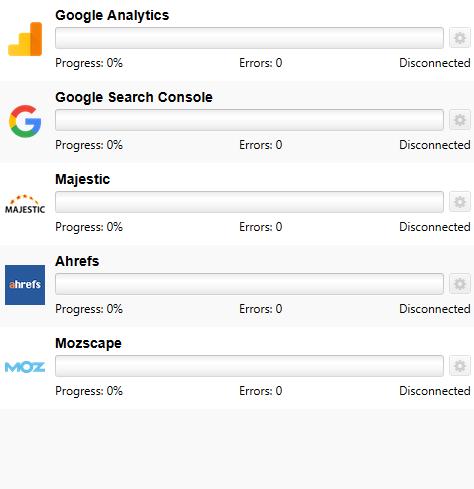 قابلیت اتصال به ابزار های search console و google analystic