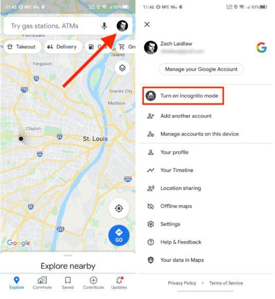 Enable incognito mode on Google Map.jpg
